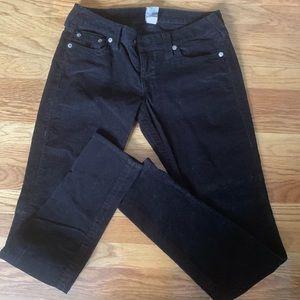 Black corduroy True religion pants